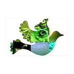 Green Bird Design - Flying Do 38.5 x 24.5 Wall Pee