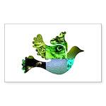Green Bird Design - Flying Do Sticker (Rectangle 5