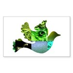 Green Bird Design - Flying Do Sticker (Rectangle)