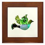 Green Bird Design - Flying Do Framed Tile