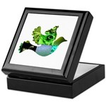 Green Bird Design - Flying Do Keepsake Box