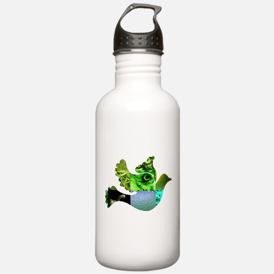 Green Bird Design - Flying Do Water Bottle
