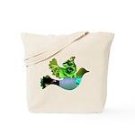 Green Bird Design - Flying Do Tote Bag