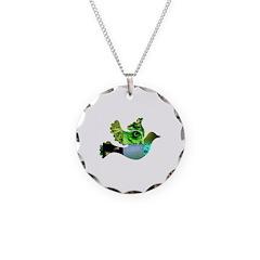 Green Bird Design - Flying Do Necklace