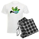 Green Bird Design - Flying Do Men's Light Pajamas