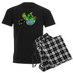 Green Bird Design - Flying Do Men's Dark Pajamas