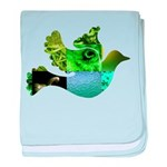 Green Bird Design - Flying Do baby blanket