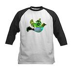 Green Bird Design - Flying Do Kids Baseball Jersey