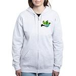 Green Bird Design - Flying Do Women's Zip Hoodie