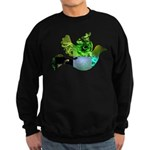 Green Bird Design - Flying Do Sweatshirt (dark)
