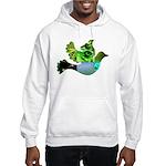Green Bird Design - Flying Do Hooded Sweatshirt