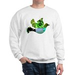 Green Bird Design - Flying Do Sweatshirt