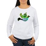 Green Bird Design - Flying Do Women's Long Sleeve