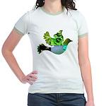 Green Bird Design - Flying Do Jr. Ringer T-Shirt