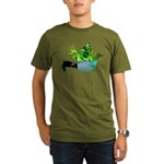 Green Bird Design - Flying Do Organic Men's T-Shir