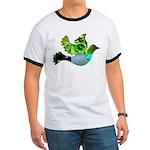 Green Bird Design - Flying Do Ringer T