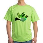 Green Bird Design - Flying Do Green T-Shirt