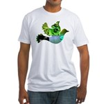 Green Bird Design - Flying Do Fitted T-Shirt
