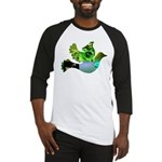 Green Bird Design - Flying Do Baseball Jersey