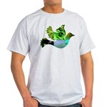 Green Bird Design - Flying Do Light T-Shirt