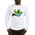 Green Bird Design - Flying Do Long Sleeve T-Shirt