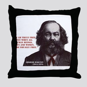 Bakunin Free Throw Pillow