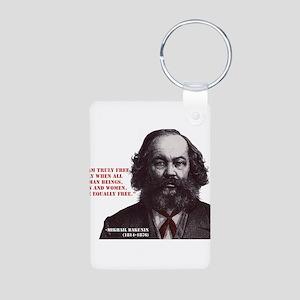 Bakunin Free Aluminum Photo Keychain