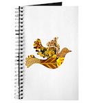Yellow Bird Flying Dove Journal