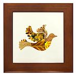 Yellow Bird Flying Dove Framed Tile