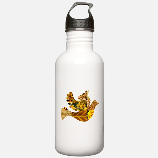 Yellow Bird Flying Dove Water Bottle