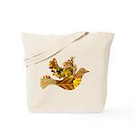 Yellow Bird Flying Dove Tote Bag