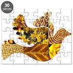 Yellow Bird Flying Dove Puzzle