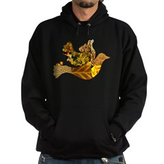 Yellow Bird Flying Dove Hoodie (dark)