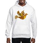 Yellow Bird Flying Dove Hooded Sweatshirt
