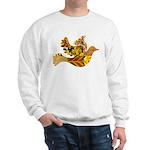Yellow Bird Flying Dove Sweatshirt