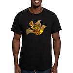 Yellow Bird Flying Dove Men's Fitted T-Shirt (dark