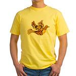 Yellow Bird Flying Dove Yellow T-Shirt
