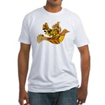 Yellow Bird Flying Dove Fitted T-Shirt
