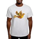 Yellow Bird Flying Dove Light T-Shirt