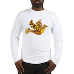 Yellow Bird Flying Dove Long Sleeve T-Shirt