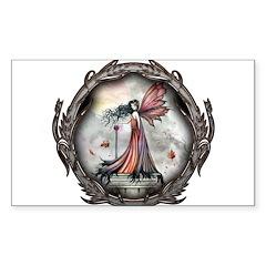 Autumn Winds Gothic Fairy Fan Sticker (Rectangle)
