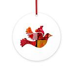 Red Bird Dove Flight Ornament (Round)
