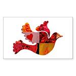 Red Bird Dove Flight Sticker (Rectangle 50 pk)