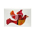 Red Bird Dove Flight Rectangle Magnet (10 pack)