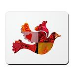 Red Bird Dove Flight Mousepad