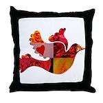 Red Bird Dove Flight Throw Pillow