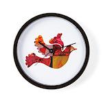 Red Bird Dove Flight Wall Clock