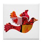 Red Bird Dove Flight Tile Coaster
