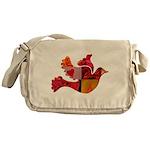 Red Bird Dove Flight Messenger Bag