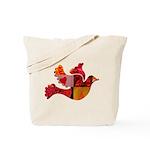 Red Bird Dove Flight Tote Bag